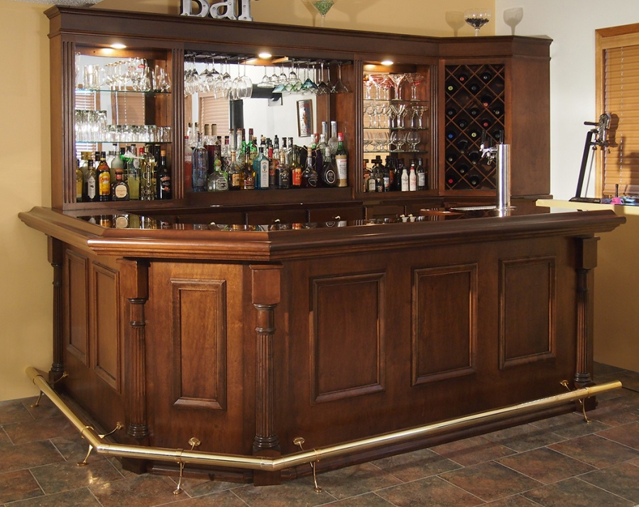 Custom home bars - Bar cabinets for home ...