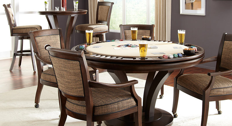 Game tables etc showcasing custom poker dining game tables for Dining room game table