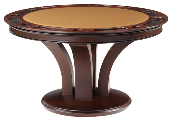 Triviso Round Poker Dining Game Table
