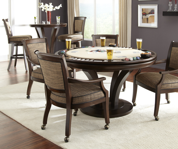 contemporary custom poker dining game tables chairs